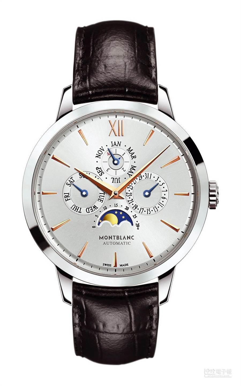 萬寶龍Meisterstuck Heritage大師傑作傳承系列萬年曆腕表,39萬8000元。(萬寶龍提供)