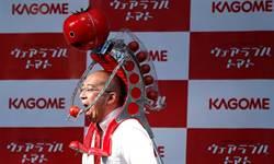 日本為跑者開發餵番茄機器人 但誰要戴啊?