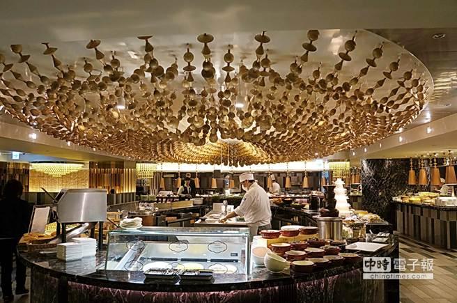 台北西華飯店B-One自助餐未因米其林星廚客座而上調價格。(圖/姚舜攝)