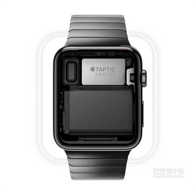 Apple Watch搭載Taptic Enging,打造全新觸感。 (圖/PhonaArena)