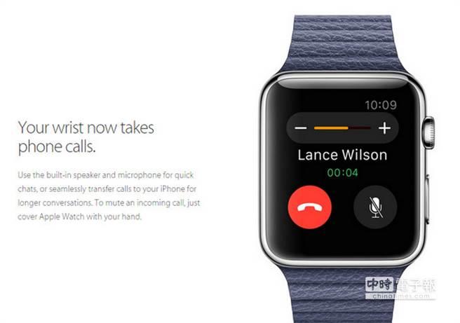 Apple Watch不只能接電話,還可直接留言。 (圖/PhonaArena)