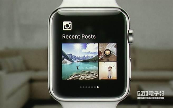 蘋果春季發表會上出現的Apple Watch App—Instagram。(圖/The Verge)