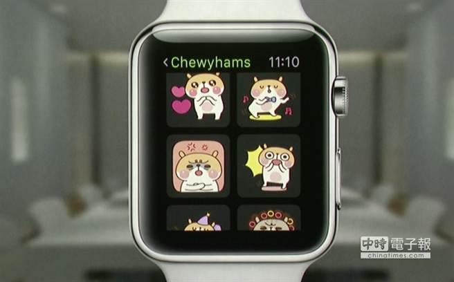 蘋果春季發表會上出現的Apple Watch App—WeChat。(圖/The Verge)