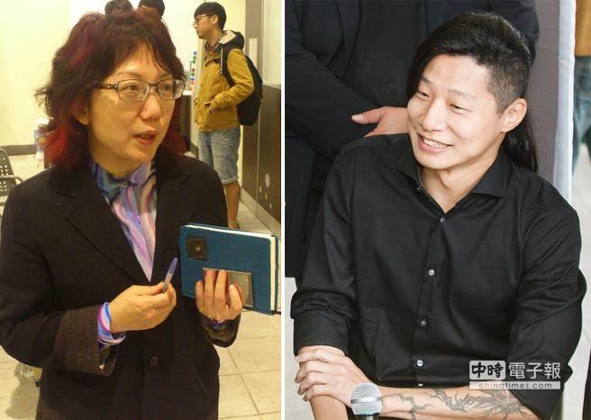 台大社會系副教授范雲(左)今天正式宣布,代表「社會民主黨」投入台北市大安區立委選舉,將強碰「時代力量」候選人閃靈樂團主唱Freddy(右),雙方盼合作。(左/取自維基百科,右/資料照片)