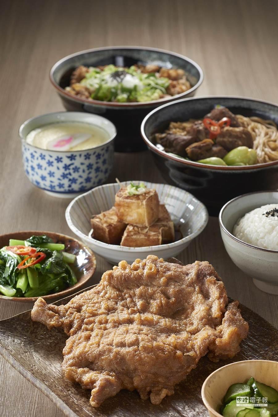 除了排骨飯、牛肉麵,「中一食堂」並供應各式中式簡餐。(圖/大成集團)
