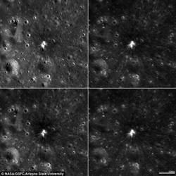 隕石撞月球  撞擊坑直徑約18.8公尺