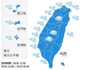 【明日天氣預報】2015年3月27日白天氣象觀測