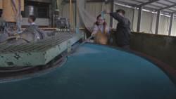 上游紙廠排廢水 埔里杷城排洪道變藍