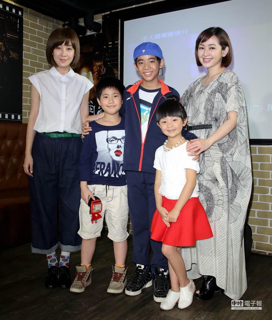 李維維(左起)、謝飛、蘇品杰、吳以涵、蔡燦得。(羅永銘攝)