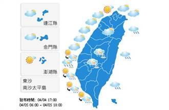 【明日天氣預報】2015年4月5日白天氣象觀測