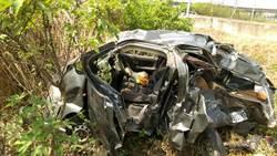 中山高拖板車追撞轎車 1死2命危