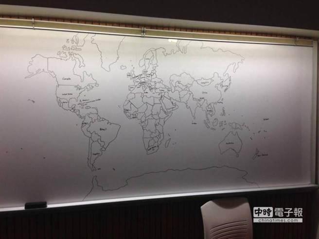 11歲自閉童畫的世界地圖,連島嶼也十分精準。(圖取自英國都市報網站)