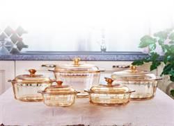 康寧玻璃陶瓷鍋 耐冷熱溫差700度C