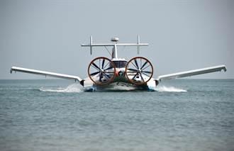 中國地效翼船在海南實現雙船試飛