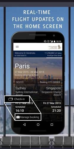 新加坡航空 推出全新App