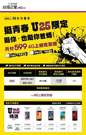 台灣之星U25專案讓爸媽同享4G吃到飽優惠