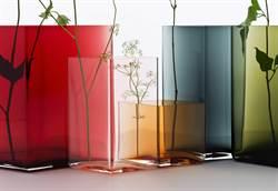 芬蘭Iittala口吹玻璃  菱形花瓶登台
