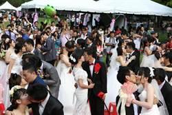 88對新人集團結婚 林佳龍分享「幸福密碼」
