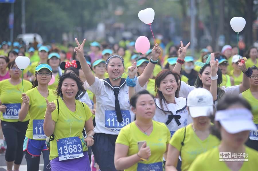 第3屆的「Mizuno Lady's Running」純女生路跑,在母親節清早溫馨登場。(圖/台灣美津濃提供)