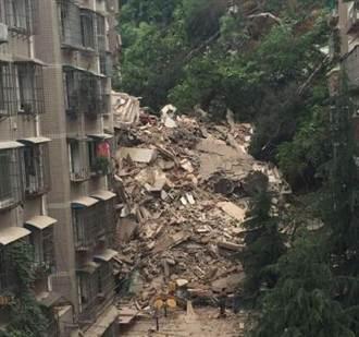 疑因連日大雨 貴州9層高樓房坍塌