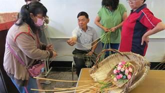 學做竹編畚箕 老人家勾起童年回憶