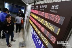 台鐵平均每天誤點120次 旅客是主因