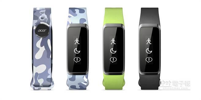 Liquid Leap Active主打輕量有型,有多款可替換的腕帶。(宏碁提供)
