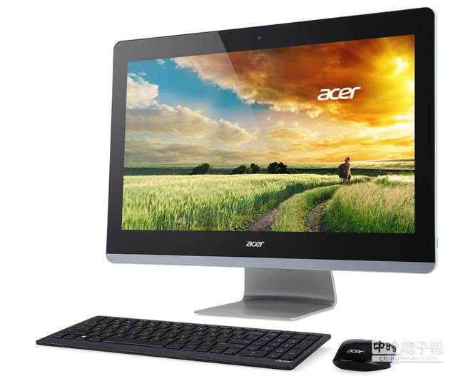 Aspire Z3-710,採用23.8吋Full HD IPS螢幕,無邊框設計並支援10點觸控。(宏碁提供)