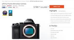 Sony相機標錯價 傳網友瘋訂600萬台