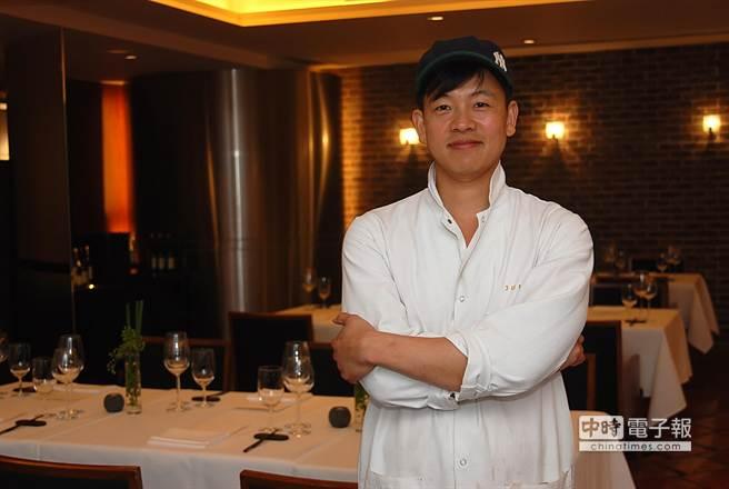 世界第一個以韓式料理摘星,同時也是亞洲排名第10的的「Jungsik」餐廳主廚林正植,明天起客座台北晶華酒店。(圖/姚舜攝)