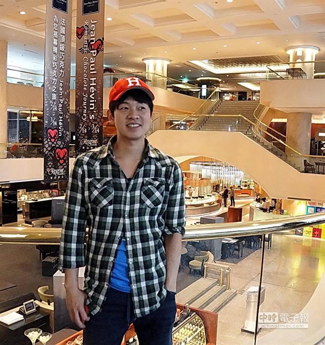 脫下廚師服的林正植,平日裝扮就像鄰家的大男孩,不會讓人聯想到他是亞洲排名第10的名廚。(圖/姚舜攝)
