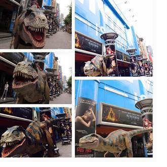 恐龍出沒影城 觀眾搶先抱抱暴龍