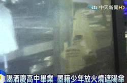 喝酒慶高中畢業 墨籍少年放火燒遮陽傘