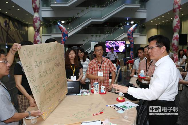 2015氣候與能源世界公民高峰會閉幕典禮,市長林佳龍盼市府與民間一起努力,為環境做最大貢獻。(陳世宗攝)