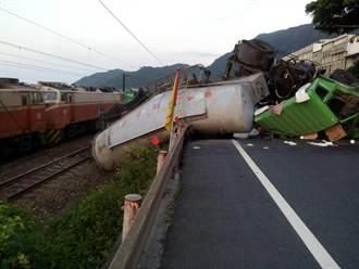水泥車衝鐵軌意外已排除 福隆大里間恢復通車