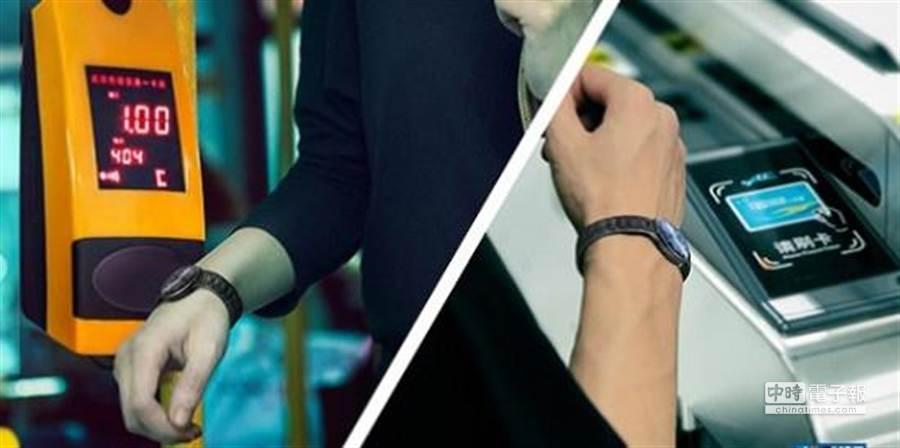 智慧手環結合悠遊卡等電子票券,就可以輕鬆變身公交手環,搭車、小額消費全都輕鬆完成。(取自technews.cn)
