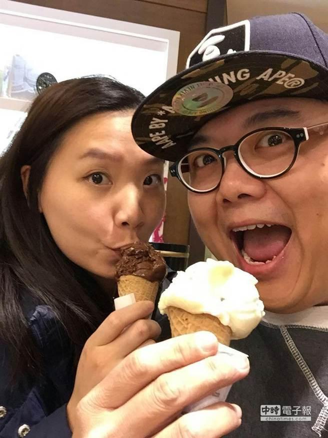 林子聰和太太婚姻生活甜蜜。(艾迪昇提供)