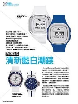 炎夏降溫 清新藍白潮錶