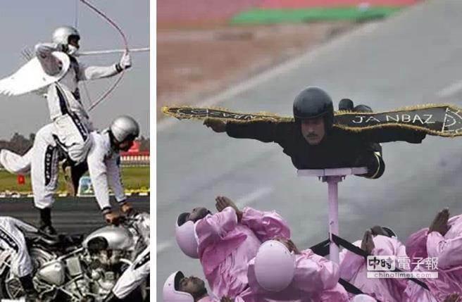 愛神邱比特(左)和小蜜蜂般的特技(右),讓人莞爾。(圖/截自YouTube)