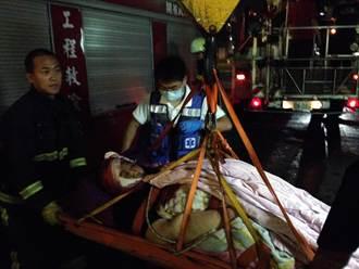 200Kg重女頭受傷 出動吊車送醫