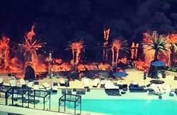 美賭城旅館大火 2人濃煙嗆傷