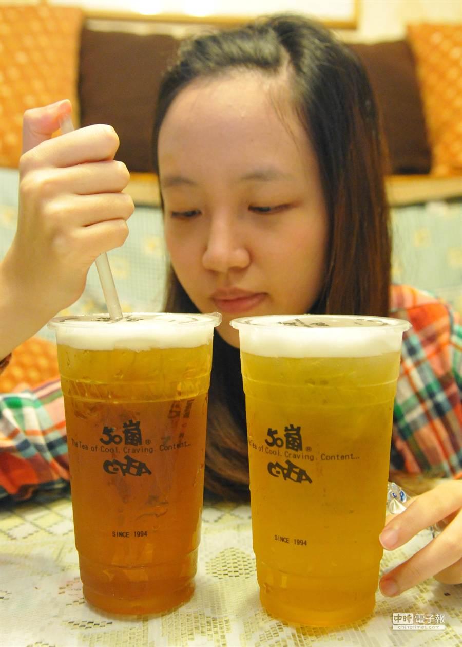 知名茶飲店50嵐幾個月來屢傳食安問題。(本報系資料照,陳君瑋攝)