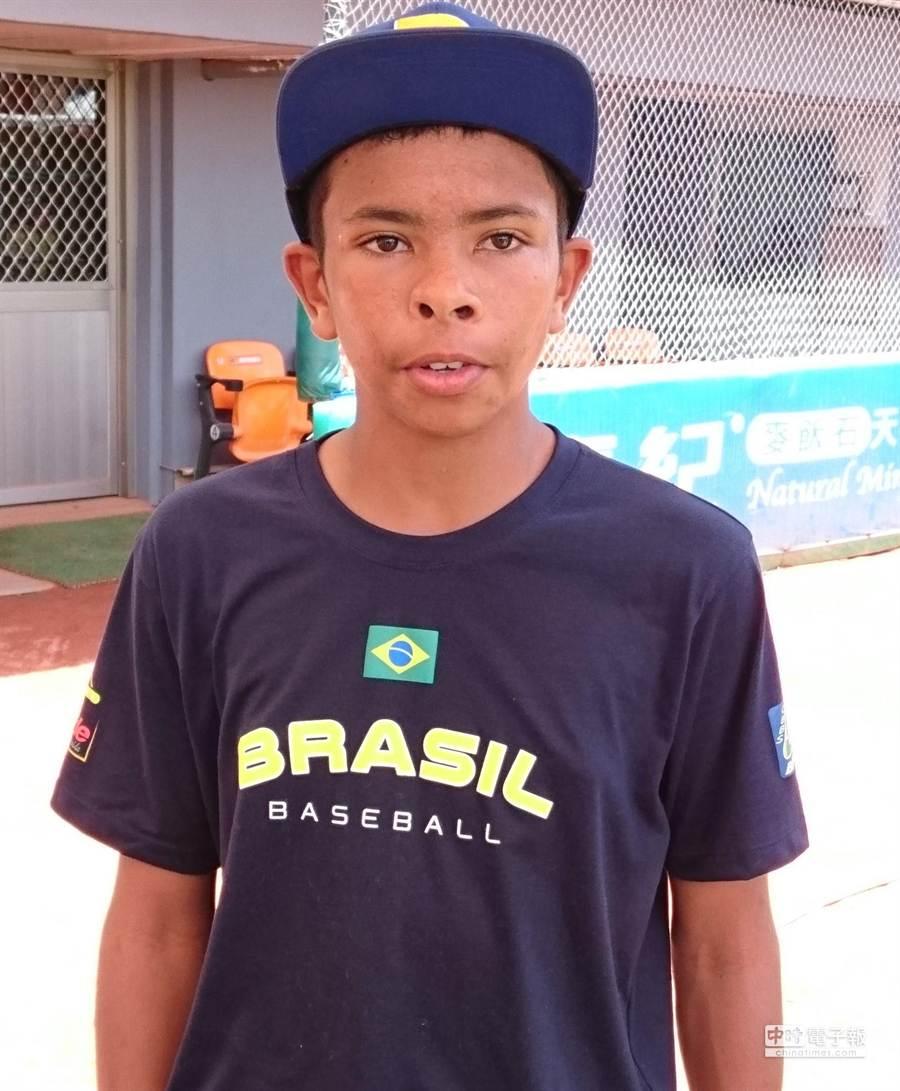 巴西隊王牌投手佩卓遺憾沒有對決中華隊。(陳志祥攝)