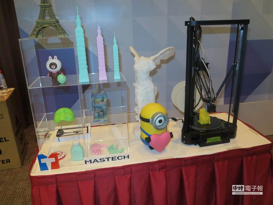 今年台北電腦應用展有多家廠商展出3D列印。(馮景青攝)