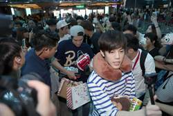 韓團「N.Flying」離台 百名歌迷熱情送機
