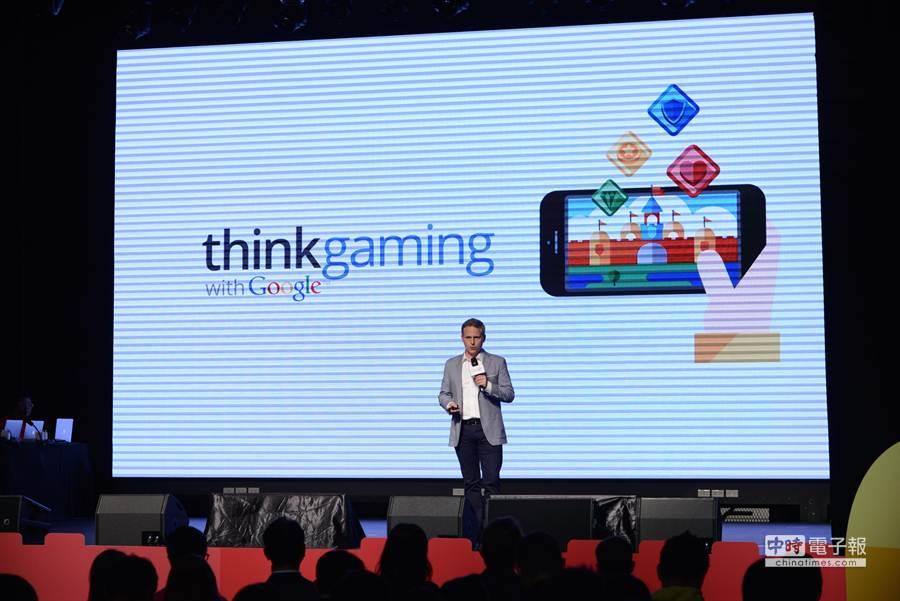 Google今(27)日舉辦「Think Gaming with Google」活動,首度公佈台灣遊戲玩家特色、喜好與消費趨勢,並邀請Google 亞太區行銷長 Simon Kahn分享行動遊戲的高速成長。(圖/Google提供)