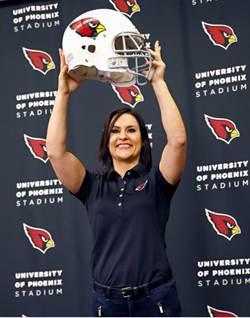 女教練魏兒特入紅雀 NFL第1人
