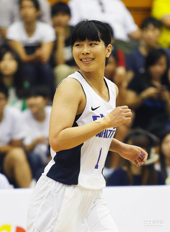 奔馳球場多年的中華白老將馬怡鴻(見圖)打完這屆瓊斯盃即將高掛球鞋。(陳怡誠攝)