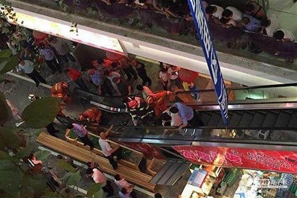 大陸近日頻傳手扶梯吃人事件。(圖取自新京報)