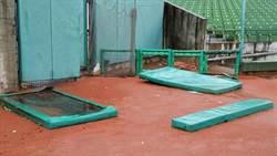 洲際球場外野受損嚴重 象猿大戰全取消